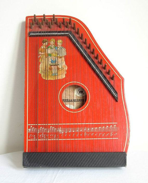 vintage germany musical string instrument guitar zither