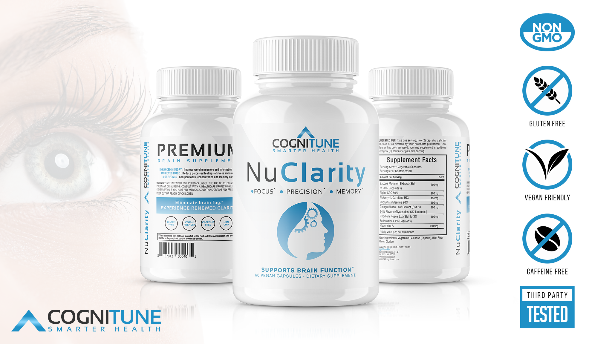 Nuclarity Premium Natural Brain Function Supplement Nootropics