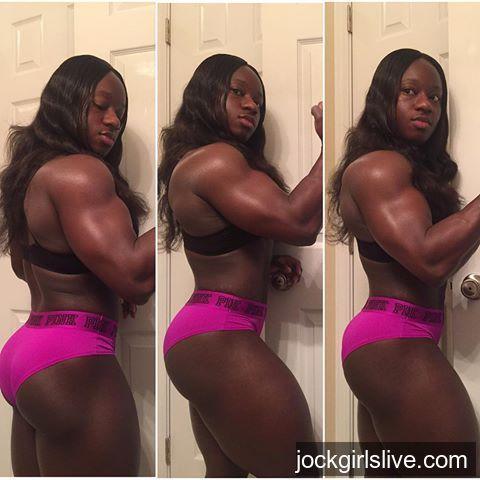 female bodybuilder woman Black muscle
