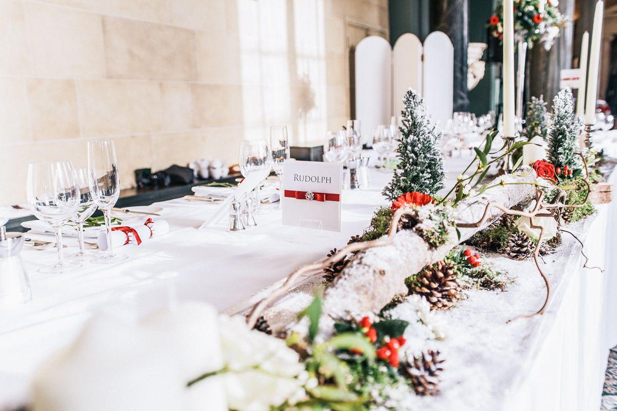 Winter Wedding Table Decoration Ideas - Red White Silver - Ali ...