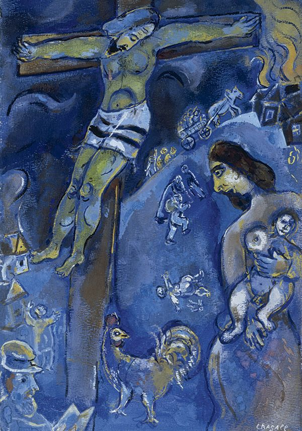 chagall jewish museum | Marc Chagall, Persecution , 1941, pastel, gouache and watercolor on ..