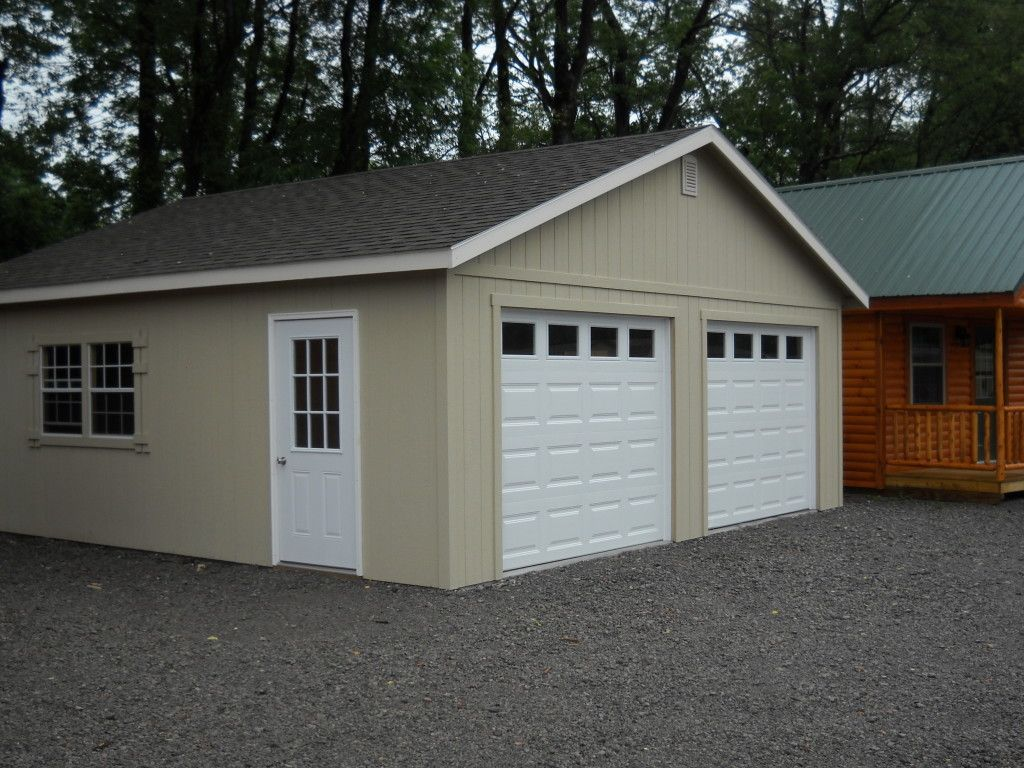 24'X24' Two Car Garage Custom Built Garages, Overstock