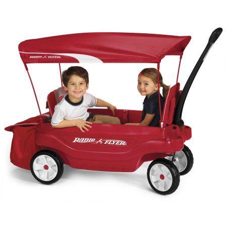 Radio Flyer Ultimate Comfort Canopy Wagon Red Kids Wagon Radio Flyer Kids Ride On Toys