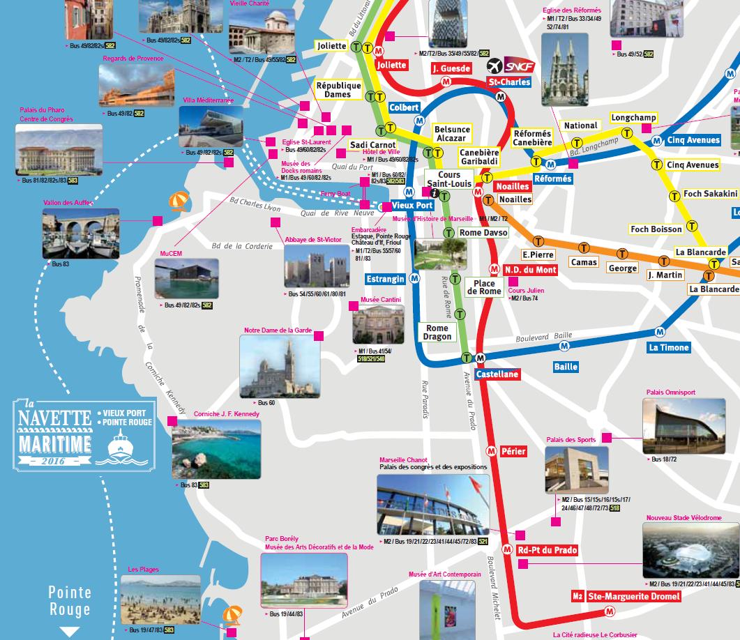 Epingle Par So Me Sur Voyages Carte Touristique Marseille Touriste