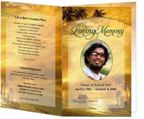 Funeral Service Programs Printable Program Template With An - funeral service program template word