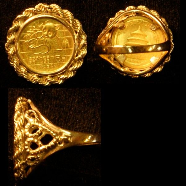 Gold Coin Rings Coin Ring Gold Coin Ring Gold Coins