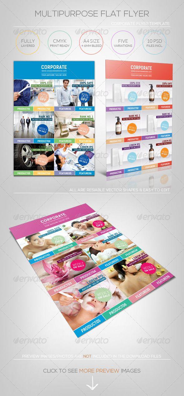 nice brochure templates - multipurpose flat flyer template nice brochures