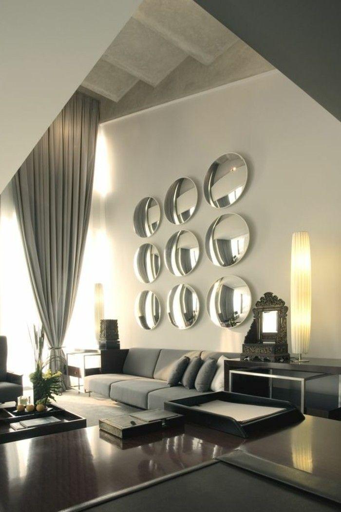 Schöne Wohnzimmer wandgestaltung mit spiegel Wohnzimmer Design