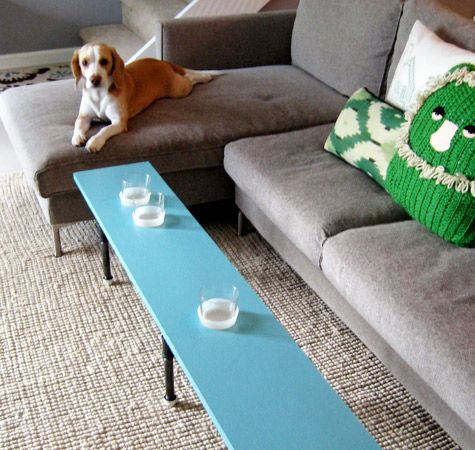 Coffee Table With Built In Cup Holders Could Also Use For Flowers Or Other Stuff Love This Idea My Family Room Would Greatly Reduce The Need To