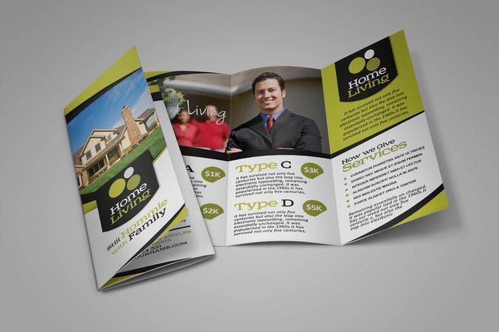 Living Real Estate Brochure Template by sehatco Design Resources - real estate brochure template