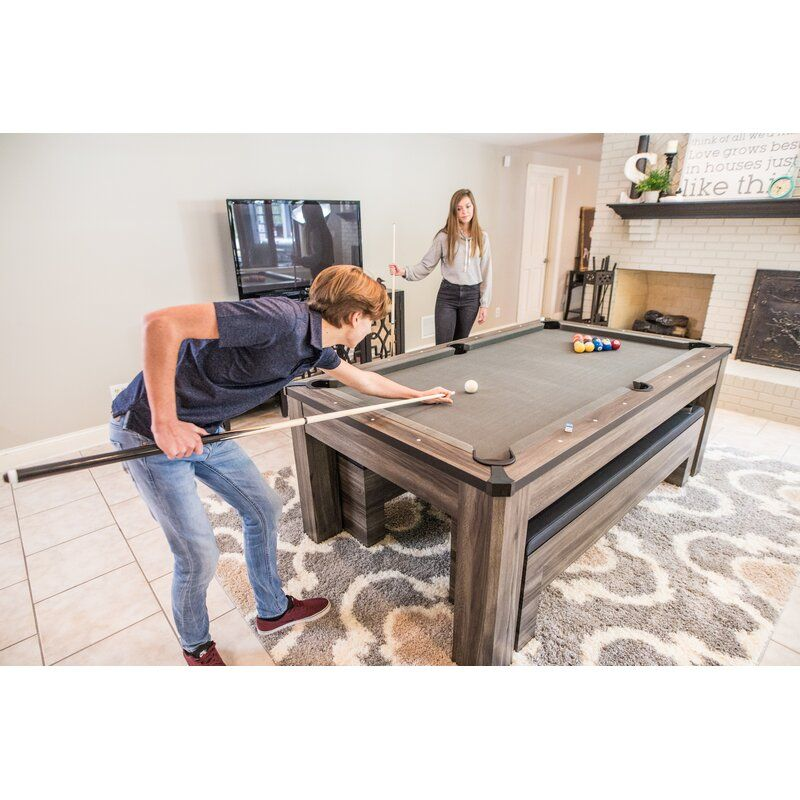 Hampton 7 3 In 1 Pool Dining And Table Tennis Table In 2021 Pool Table Room Pool Table Dining Table Modern Pool Table