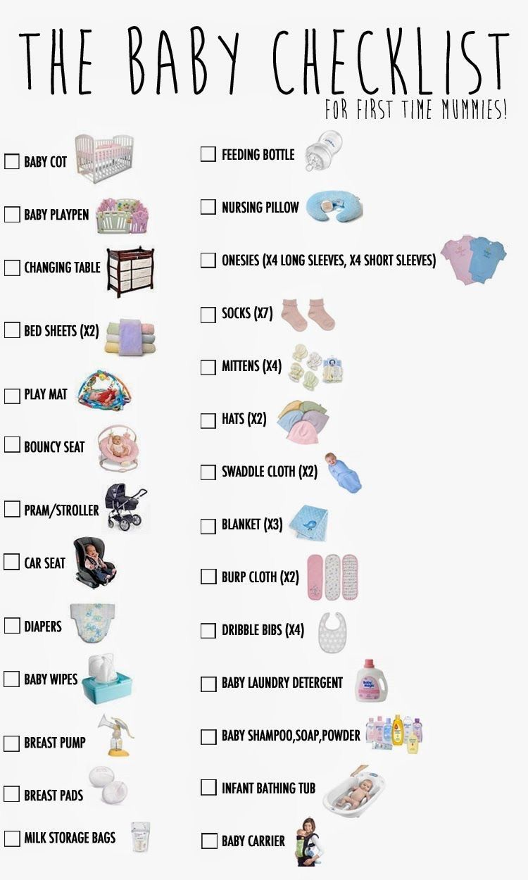 Baby Board Newborn Necessities List New Essentials