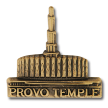Provo Temple Pin in Gold - $4.95