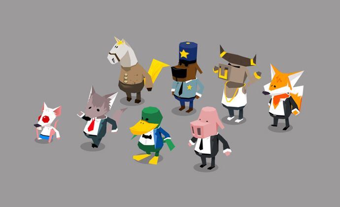 Catdammit Work In Progress Enemies Low Poly Character Low Poly