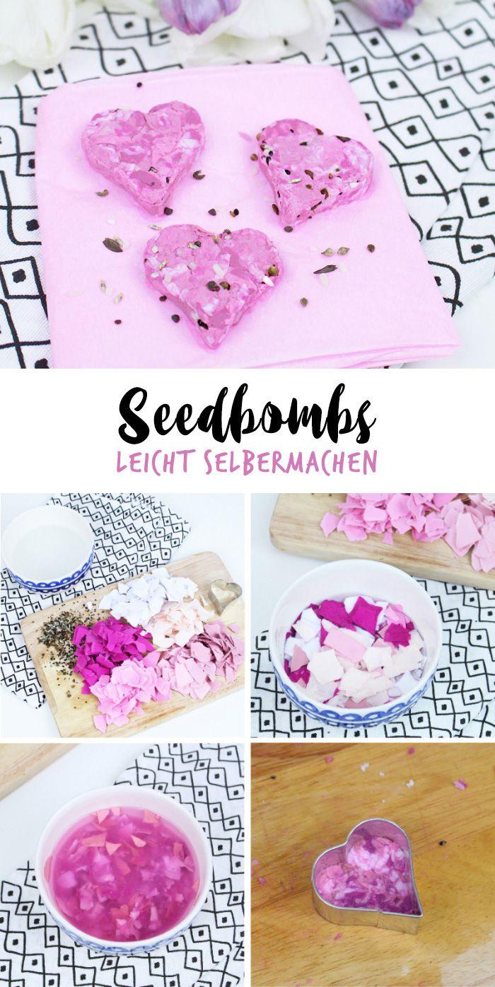 seedbombs rezept diy ideen auf deutsch pinterest selbermachen coole diy geschenke und. Black Bedroom Furniture Sets. Home Design Ideas