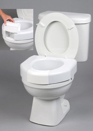 Secure Bolt Elevated Toilet Seat With Closed Front Option