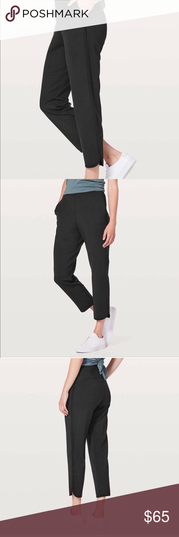 497deb714 Lululemon black Every moment pant These are made with super soft French  terry
