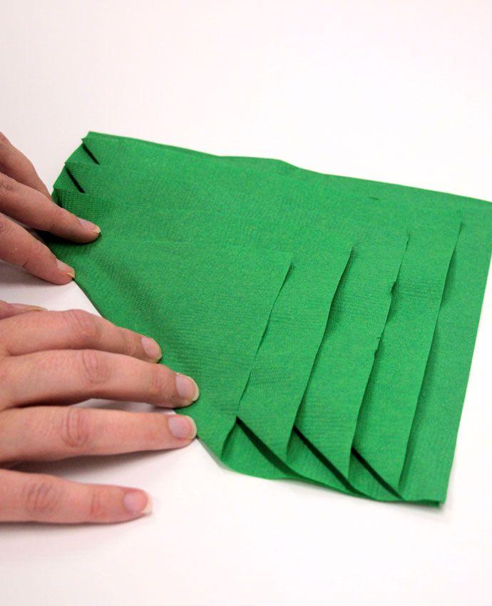 Christmas Tree Napkin Folding Christmas Tree Napkin Fold Christmas Tree Napkins Napkin Folding