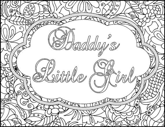 wanton words adult coloring page daddy u0026 39 s little by