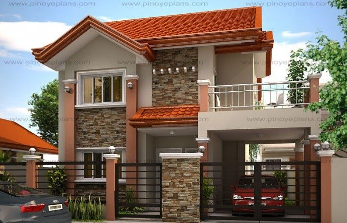 A Two Storey House Plan Is A Low Cost To Build Than A One Story House Plan Because It 39 S Philippines House Design Two Story House Design House Front Design