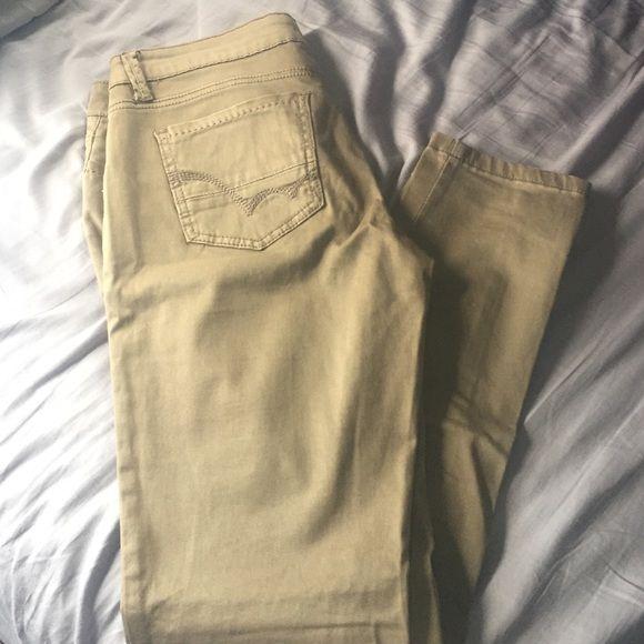 Love Culture tan skinny jeans Love Culture like-new tan/beige skinny jeans, size 7. Stretch material for comfortable fit! Love Culture Jeans Skinny