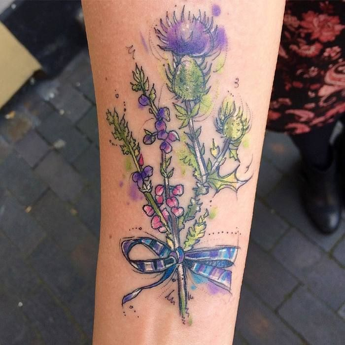 Scottish Thistle Tattoo Ideas: 27 Impressive Thistle Tattoo Ideas - Page 2 Of 2
