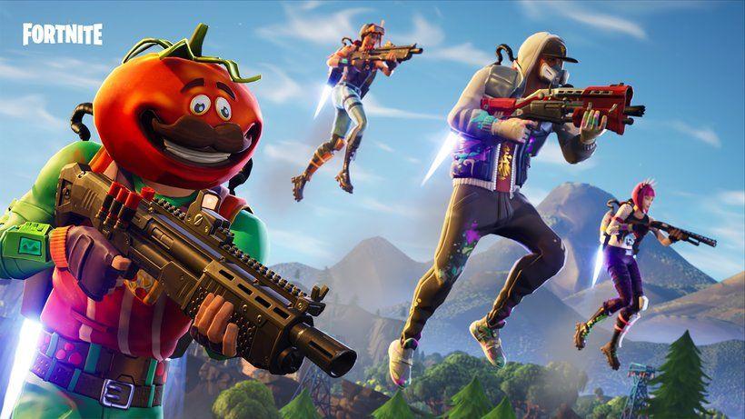 Fortnite Battle Royale Video Game Jetpack Tomatohead Abstrakt