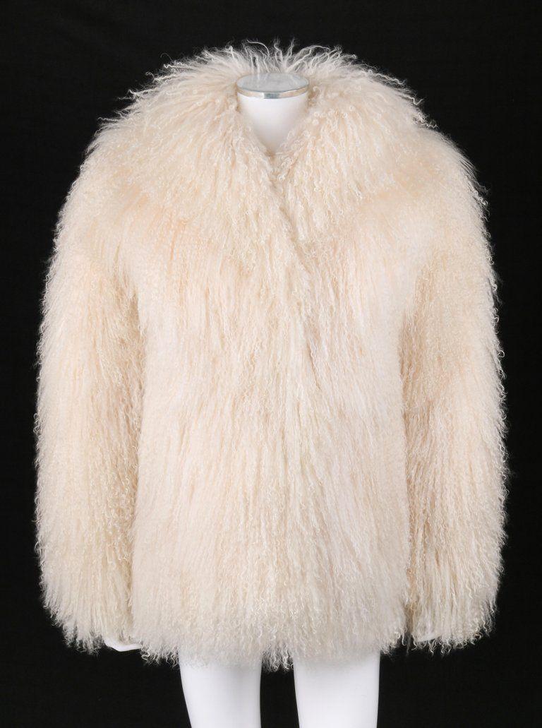 Safuron Cream Curly Mongolian Lamb Fur Coat Jacket Mongolian Lamb Fur Coat Fur Coat Coat [ 1031 x 768 Pixel ]