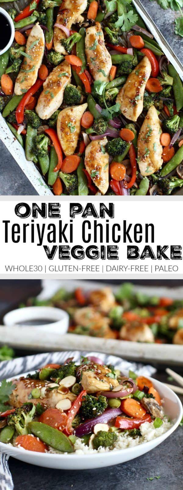 One-Pan Teriyaki Chicken Veggie Bake