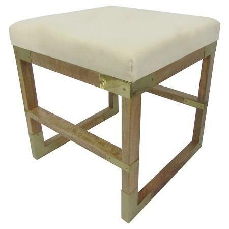 white mango wood campaign stool home renovation project target rh pinterest com