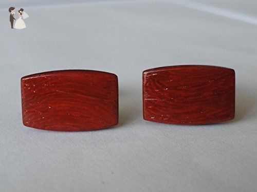 Handmade Products Cufflinks Bolivian Rosewood and Tagua Nut Ivory Exotic Hardwood Cufflinks
