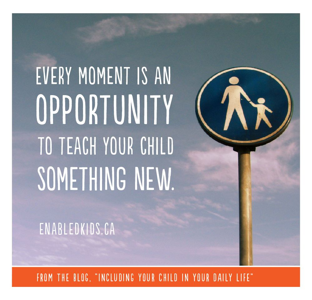 "Daily Life Quotes From The Blog ""including Your Child In Your Daily Life""natan"