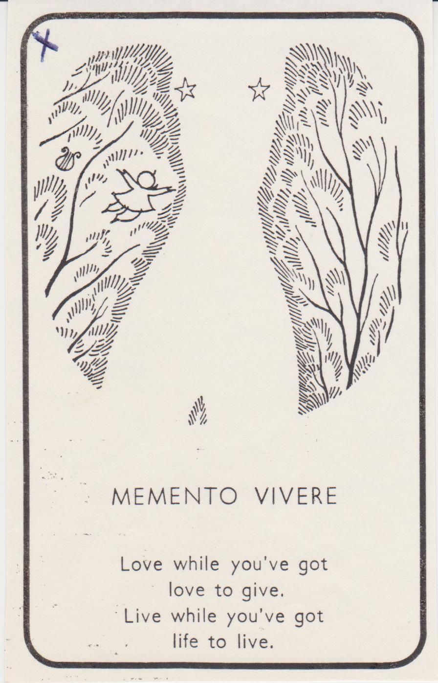 Piet Hein...Memento Vivere is Latin meaning 'Remember To