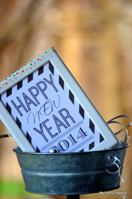 Fun sign at a New Year's party!  See more party ideas at CatchMyParty.com!  #partyideas #newyears