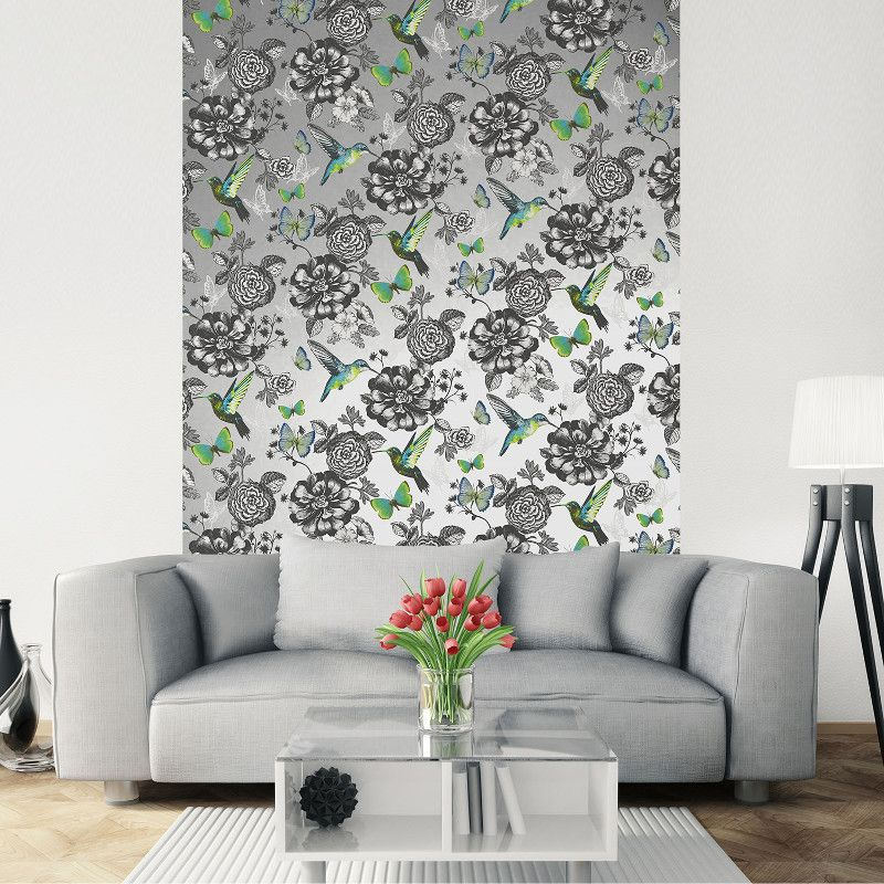 Holden Decor Menali Peacock Design Green Glitter Wallpaper 35921