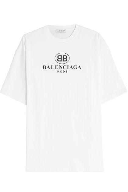 Logo Cotton T Shirt | Balenciaga | above normal in 2019