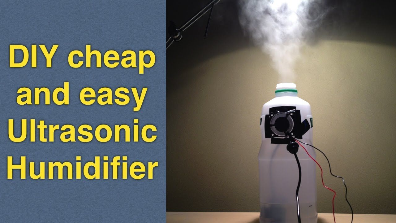 Homemade Humidifier Using Ultrasonic Mist Maker Fogger