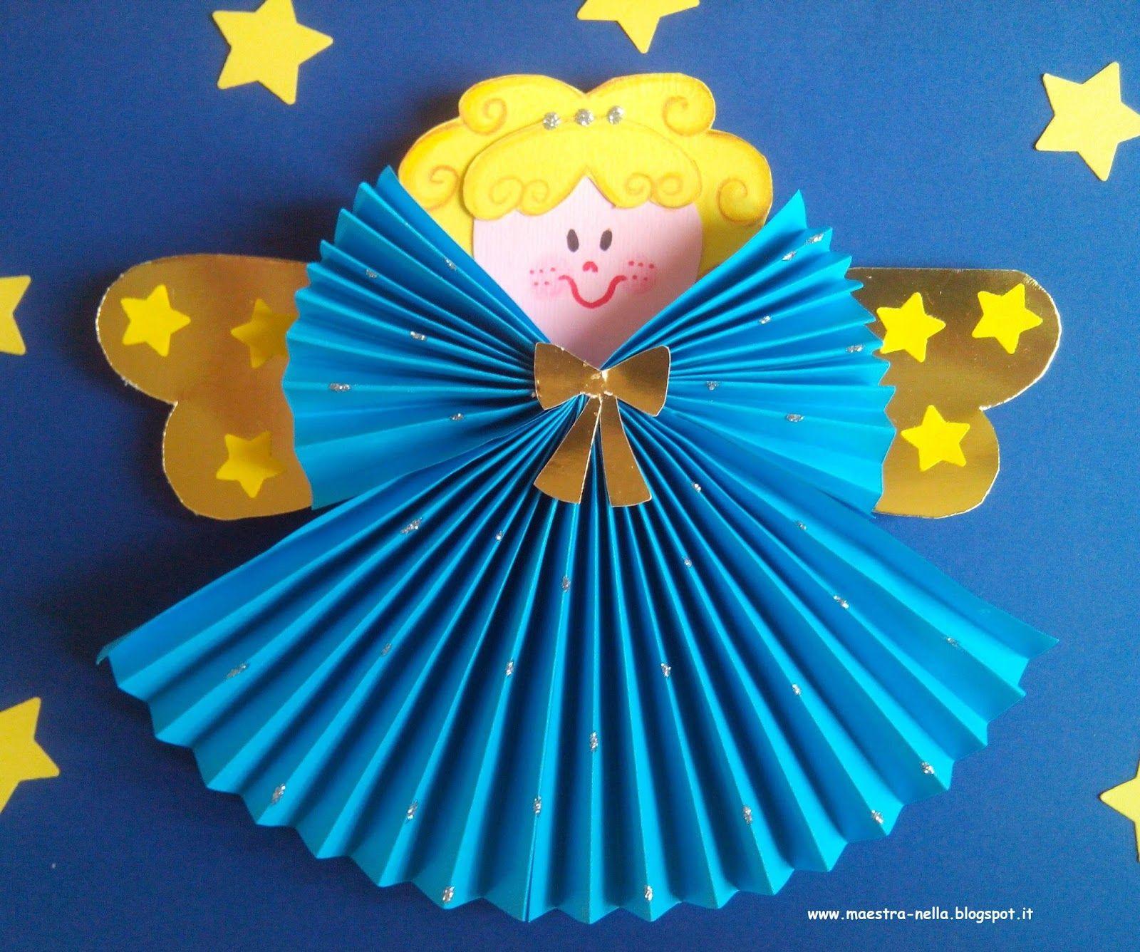 Tuto ange en papier no l loisirs cr atifs et bricolage for Lavoretti di natale maestra mary