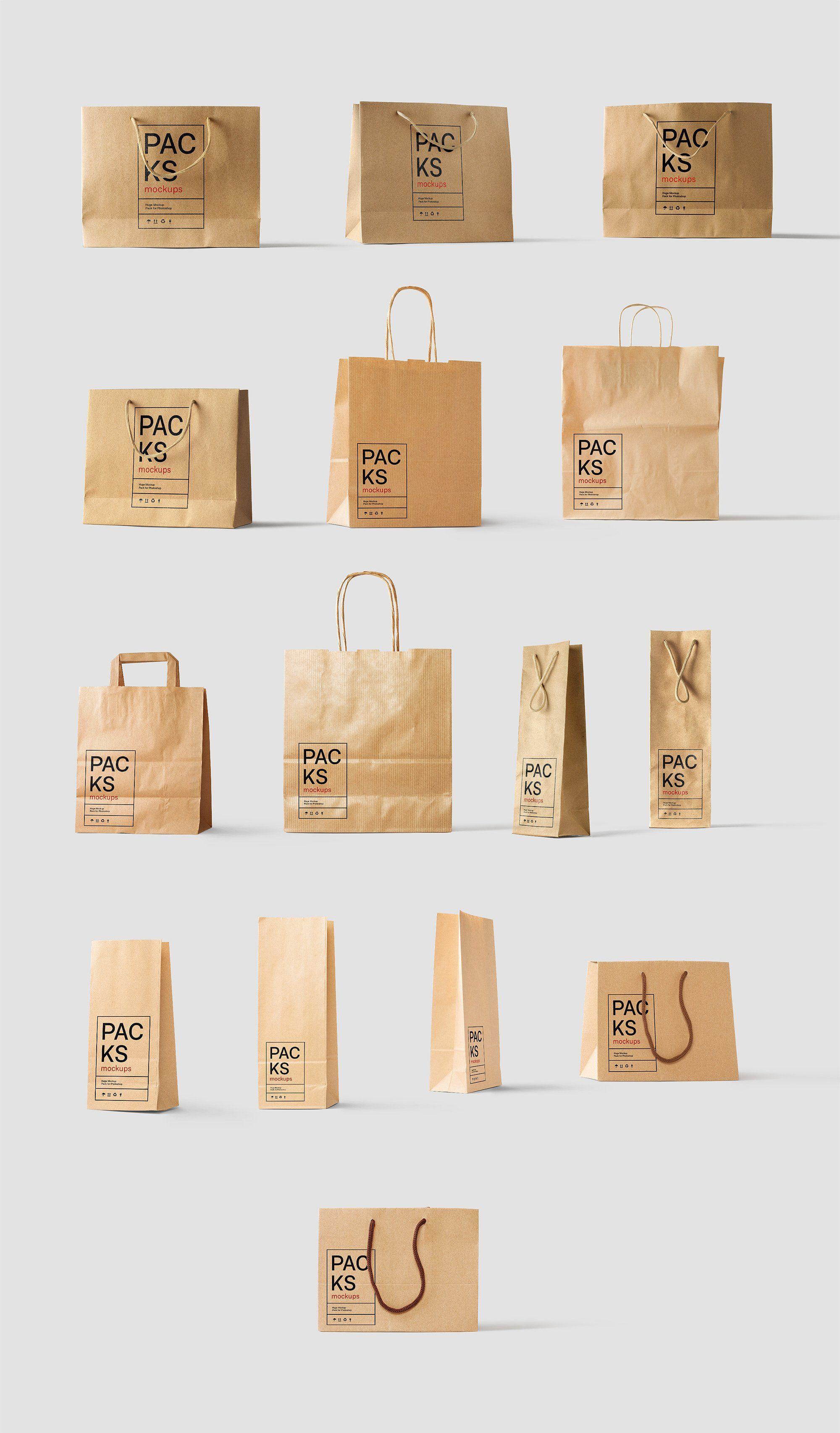 Download Packs Mockup Bundle Bpk Quality High Images Techniques Paper Bag Design Bag Mockup Food Packaging Design