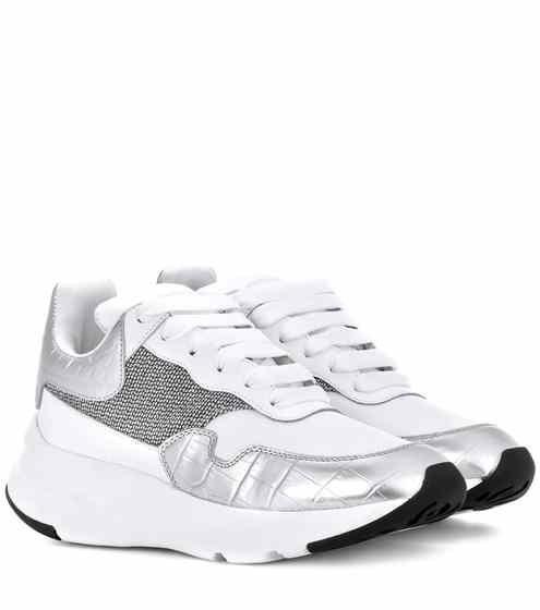 online store c4300 92cd5 Zapatillas de piel   Alexander McQueen