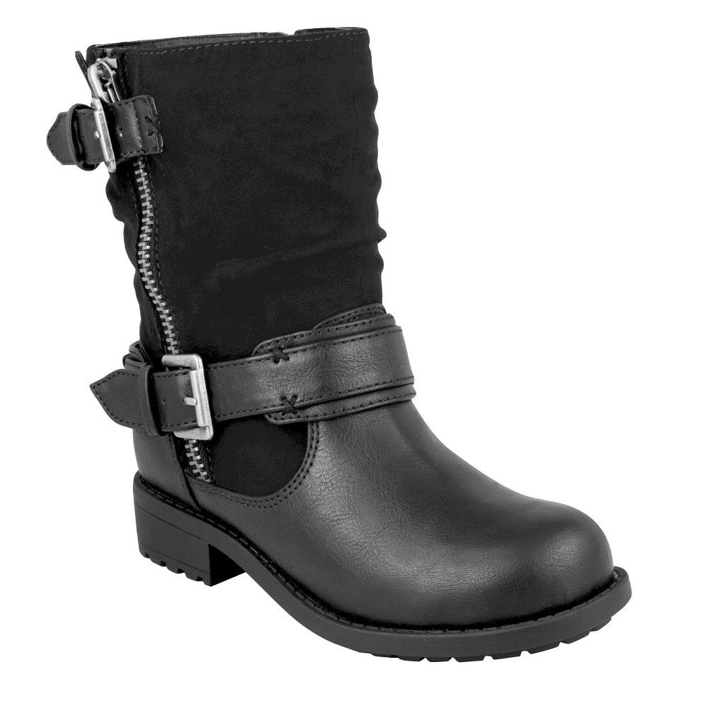 Girls' CoverGirl Laural Slouch Fashion Boots - Black 13, Girl's