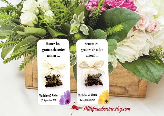 Welcome Gift Rustic Wedding Seeds To Plant Flower Floral
