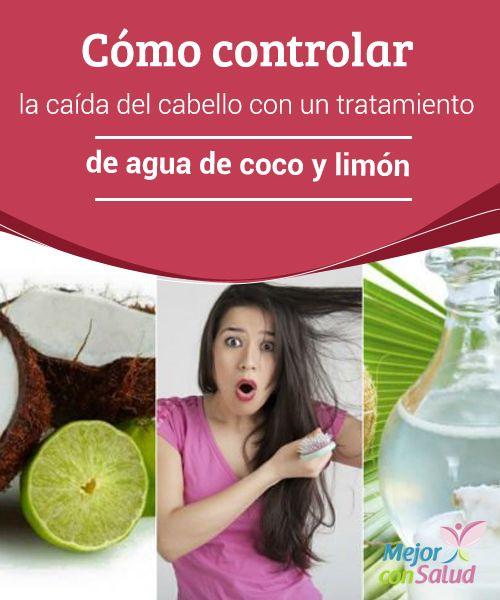 Cómo controlar la caída del  cabello con un tratamiento de  agua de  coco 6827f26d2e38