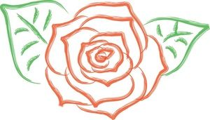 Simple Rose Clipart