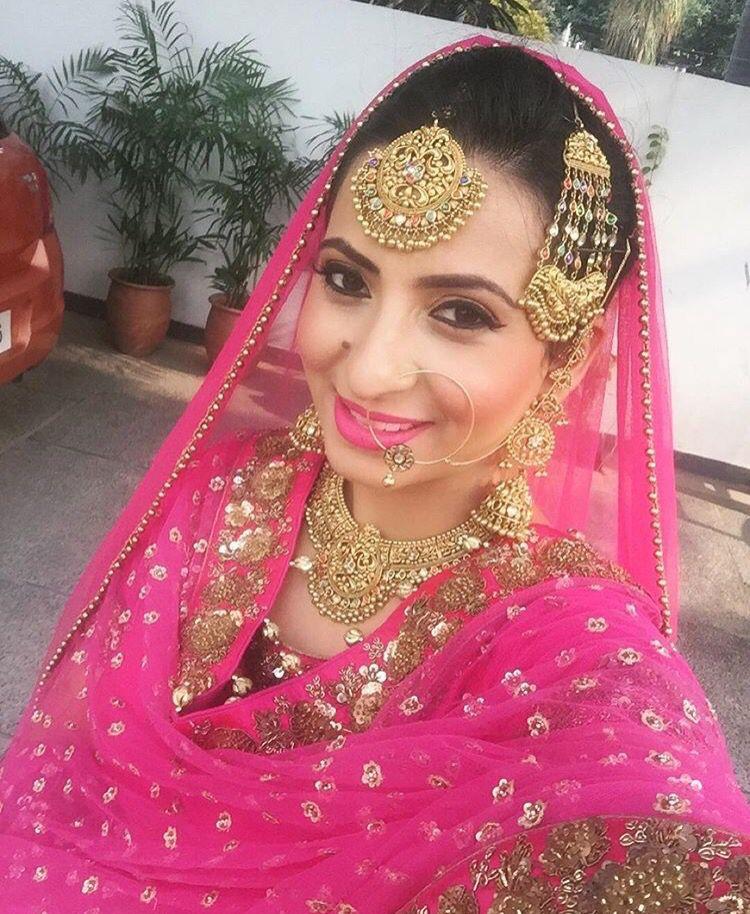 Punjabi bridal look | Punjabi Bridals and Jewellery | Pinterest
