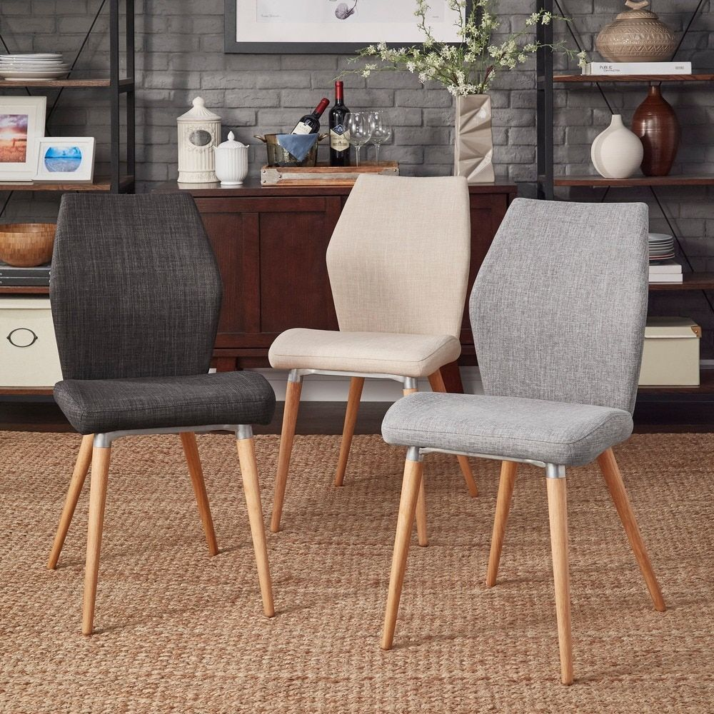 MID-CENTURY LIVING Abelone Contour Upholstered Side Chairs (Set of 2) -  19675541
