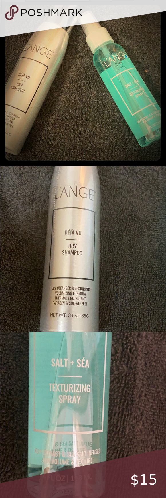 L Ange Hair Products Dry Shampoo Texturizing Spray Thermal Protectant