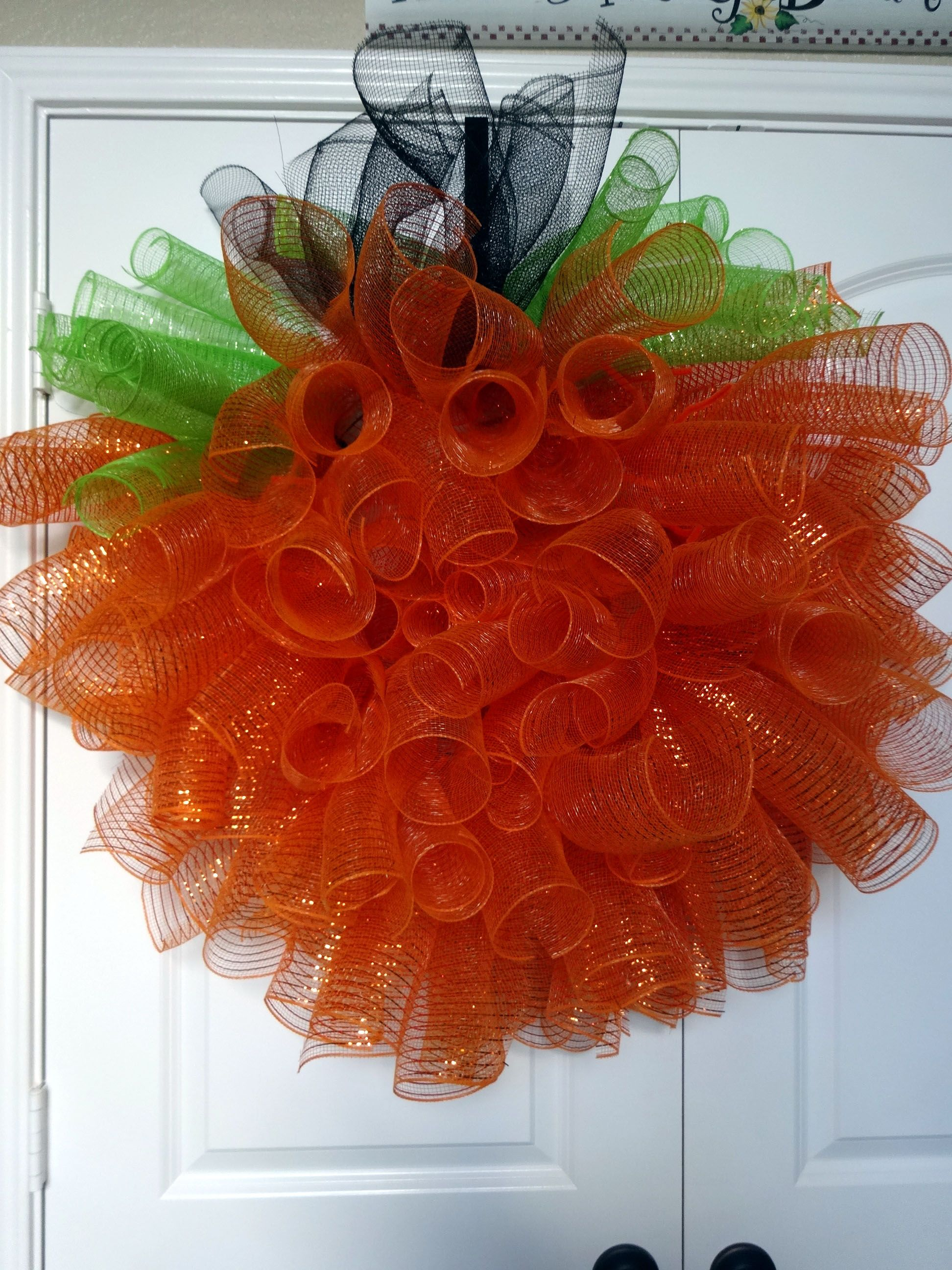 Halloween or Thanksgiving Pumpkin Wreath Wreaths
