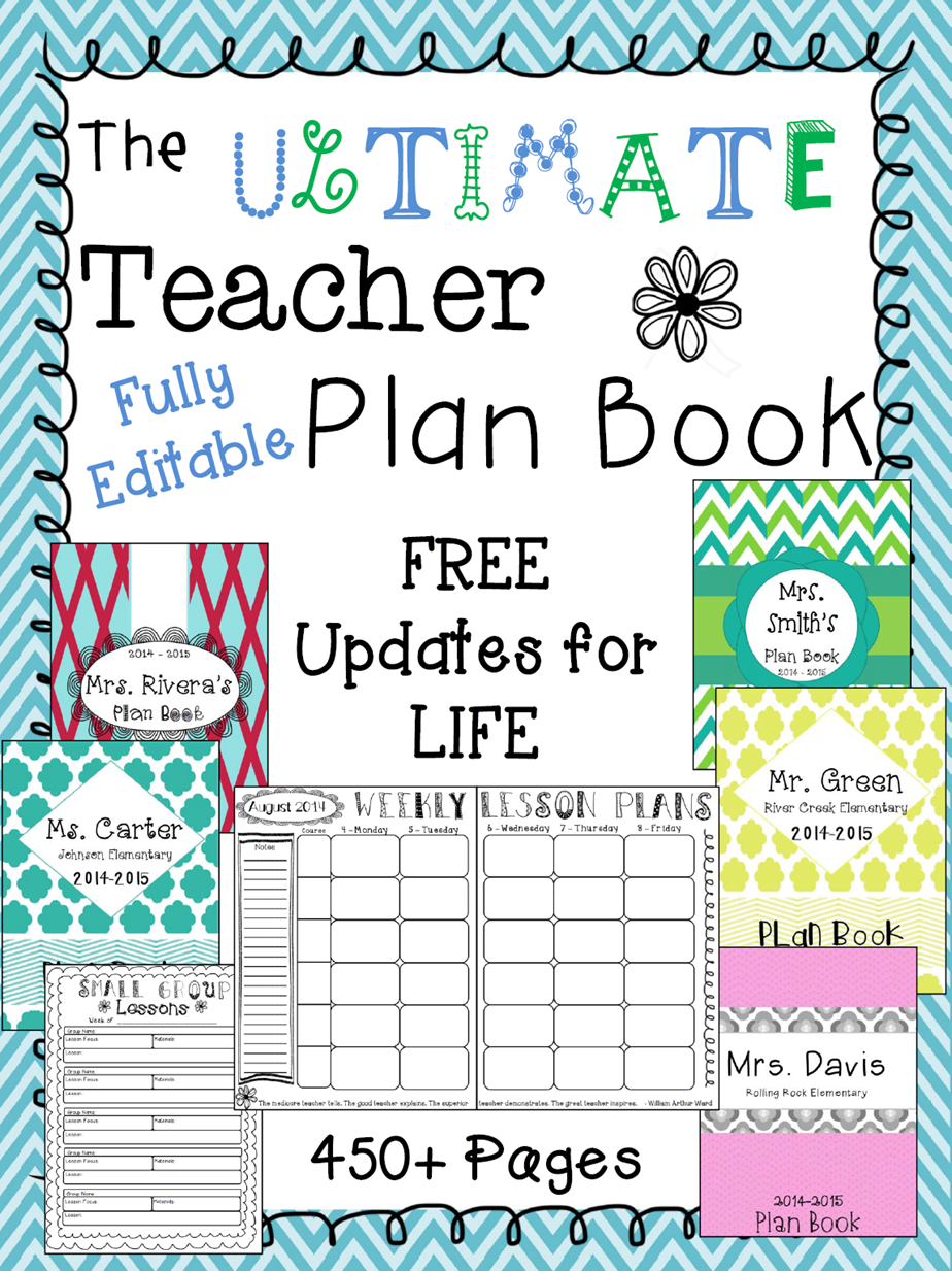 editable teacher binder free updates digital teacher planner