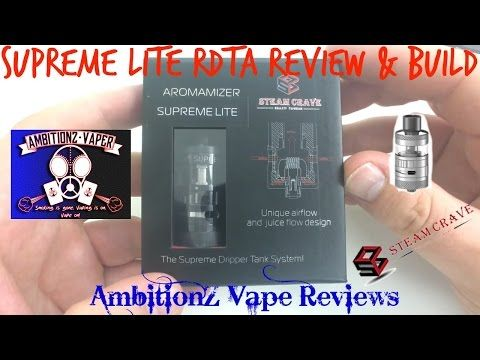 Aromamizer Supreme LITE RDTA 23MM Review & Build & Giveaway by Steam